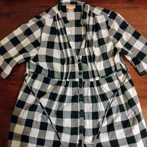 Mossimo gingham button-up